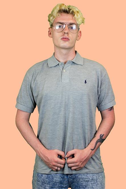 Grey Ralph Lauren polo top