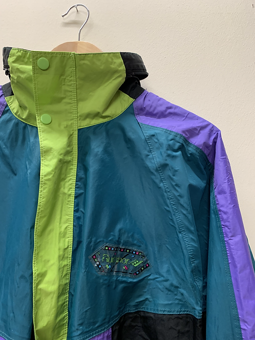 Colour block waterproof jacket