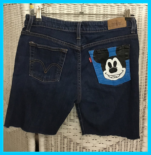 Hand painted Levis shorts
