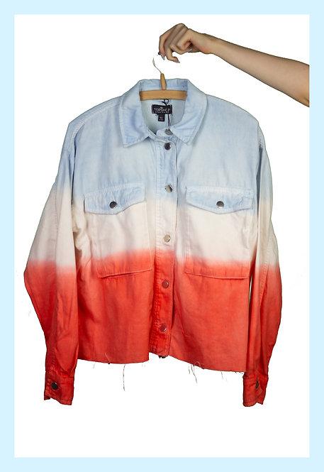 Topshop Ombre Denim Jacket