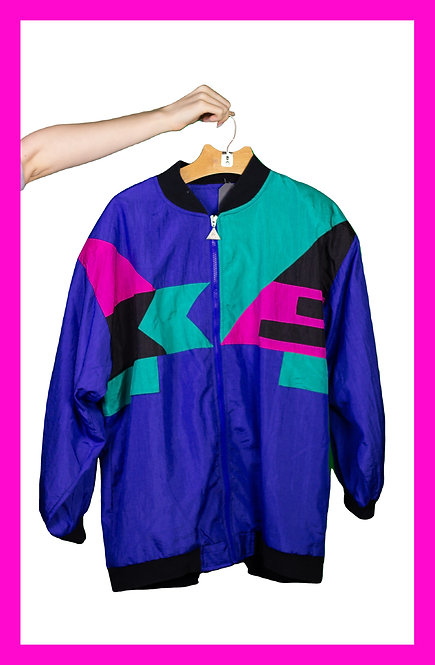 Blue Abstract Shell Jacket