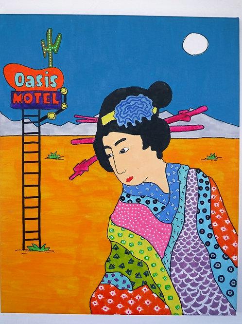 Geisha Painting- Oasis