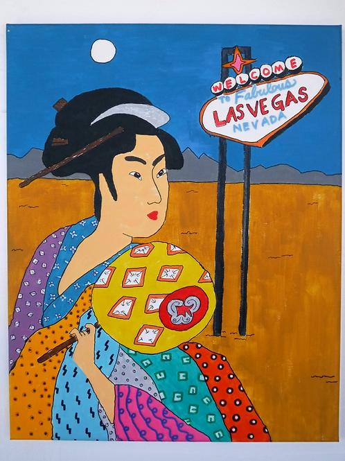Geisha Painting- Las Vegas