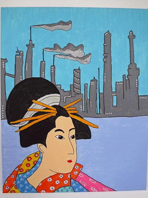 Geisha Painting- Smokestacks