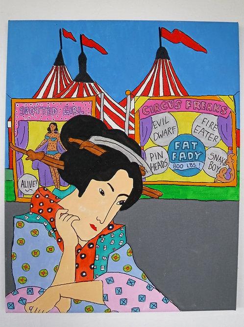 Geisha Painting- Sideshow