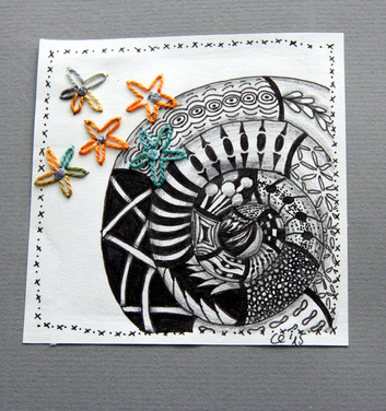 A zentangle a day - sample page (2015)