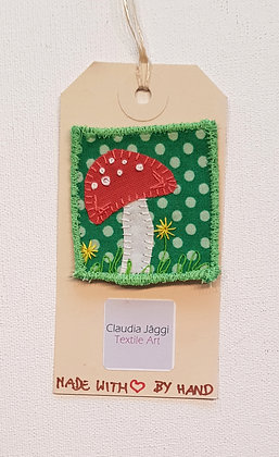 fabric patch TOADSTOOL