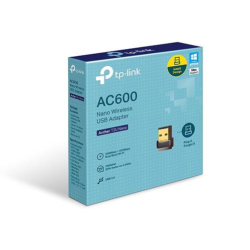 Adaptador inalámbrico Nano USB de doble banda AC600