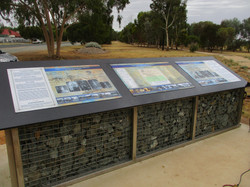 Panels Closer and Soldier Settlement on  Gabion Wall