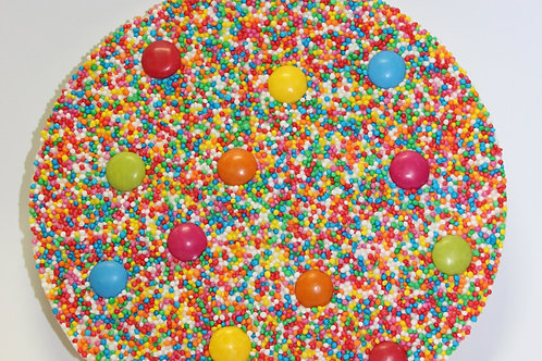 THE BIG ONE ~ WHITE CHOCOLATE SPRECKLE WITH SMARTIES