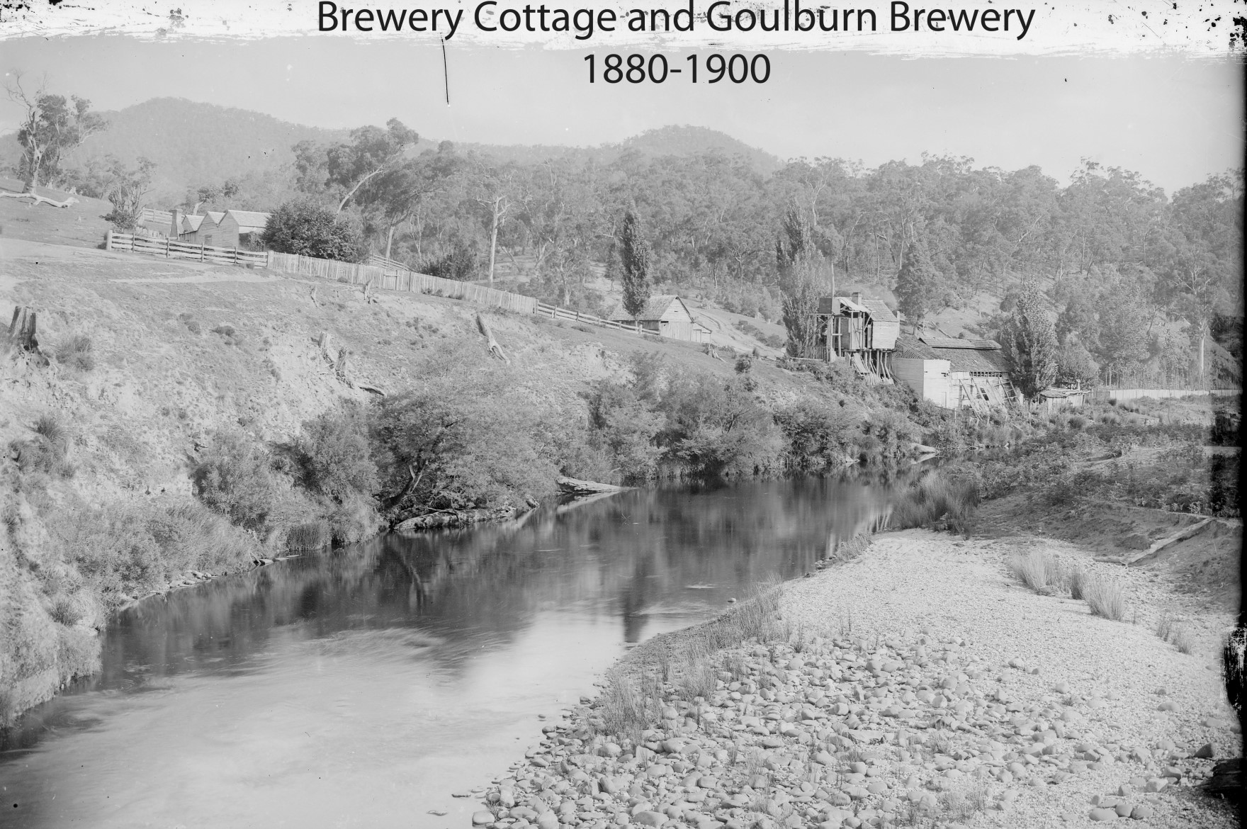 Goulburn Brewery from Licola Bridge 1880-1900