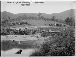 Brewery Cottage with Licola Bridge in foreground 1880-1900