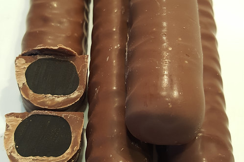 MILK CHOCOLATE LIQUORICE LOGS