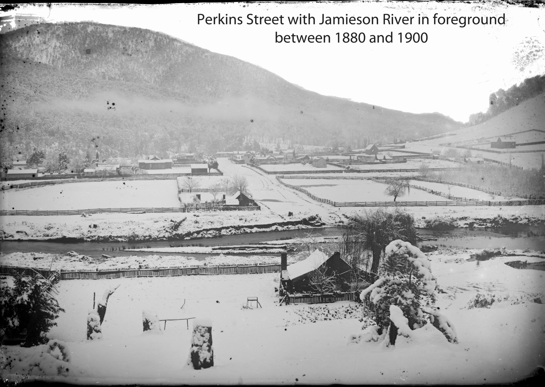 Perkins Street with snow 1880-1900