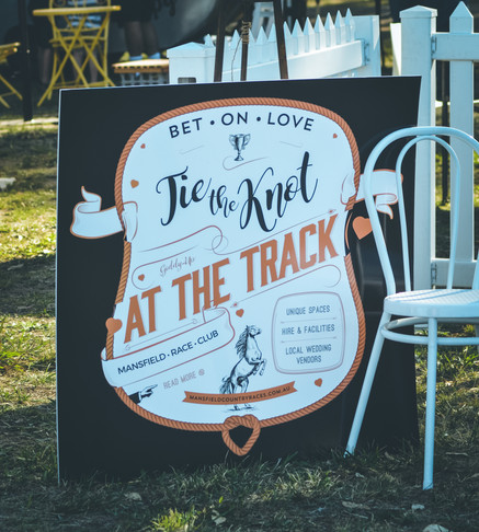 TIE THE KNOT AT THE TRACK!