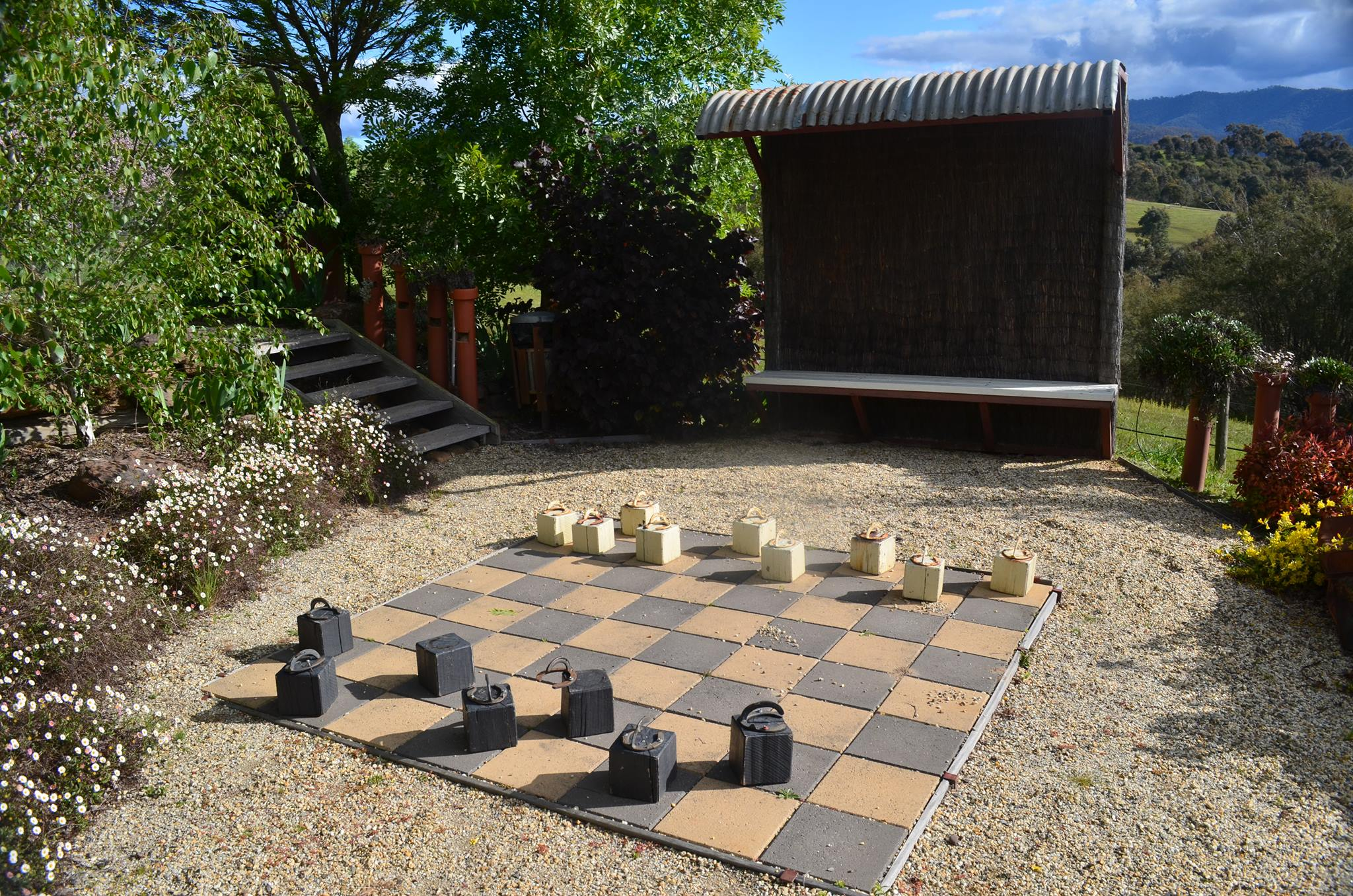 Giant Chess Board at Howqua Resort