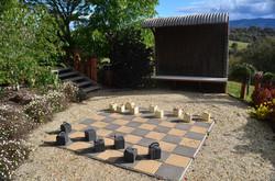 Giant Chess Board at Howqua Resort