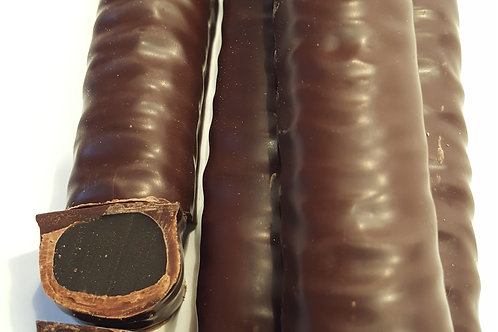 DARK CHOCOLATE LIQUORICE LOGS