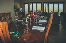 Dining indoors