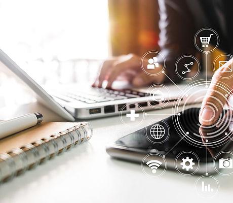 Digital marketing media in virtual scree