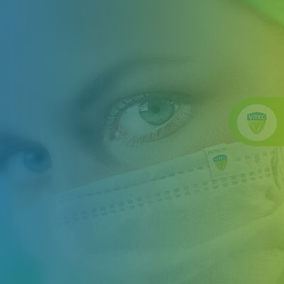 Vitec antimicrobial coated face-mask