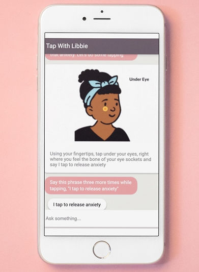 Libbie chatbot on iPhone