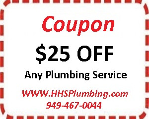 HHS Plumbing Ladera Ranch, CA 92694, Coupon $25.00 Off