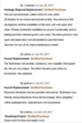 real plumbing reviews