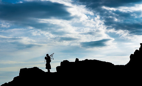 """""""Piper at the Gates of 'Horn"""" - Photographic Print"""