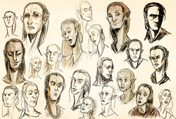 Sci-fi character design sketches