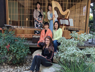 Harp & Koto Stories Concert at Storrier Stearns Japanese Garden