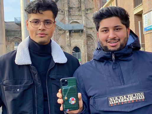 """Amar (23) en Mani (21) Singh ontwikkelen Linked-Up: """"Met slechts 1 tik ontvang je alle gegevens"""""""
