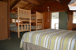 Rustic Mountain View Cabin Interior