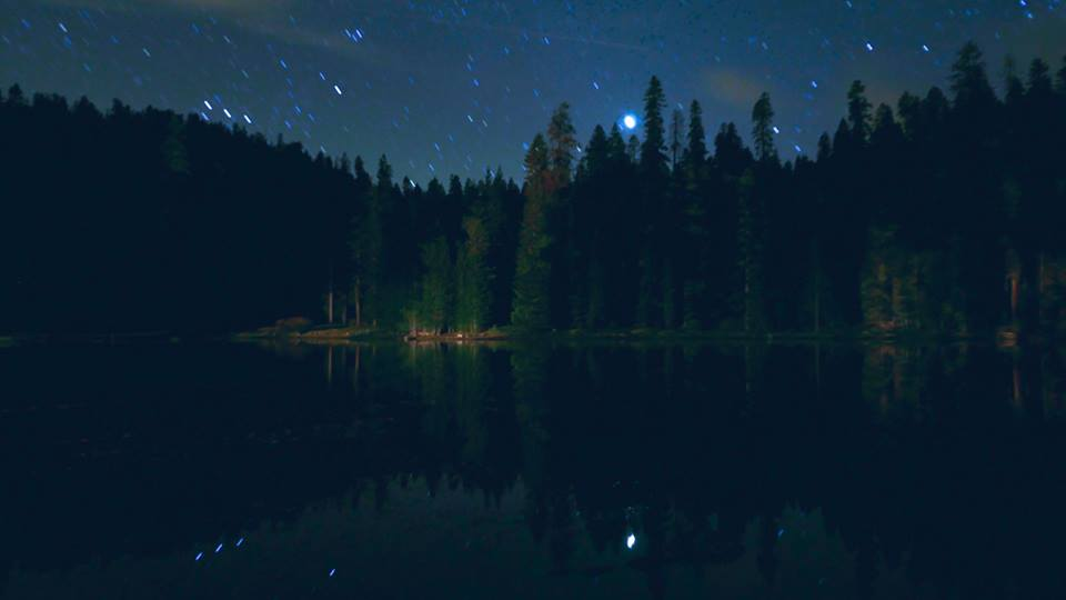 Stars over our private lake