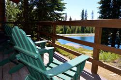 Dandy's Cabin's private deck