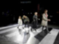 Abbey road collé sur la place Stravinsky du Centre Pompidou pendant la Nuit Blanche 2016