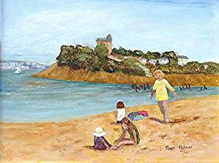 On the beach - Joan Palmer oil.jpg