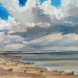 Pett beach towards Rye