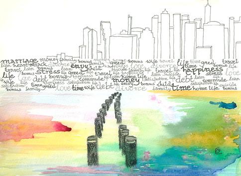 Manhattan skyline from Brooklyn Bridge Park -  Gunda Cannon