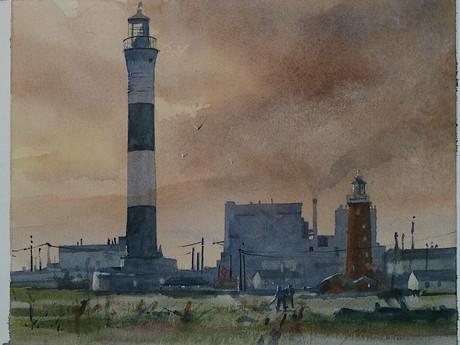 Dungeness Lighthouses -  David Aspinall