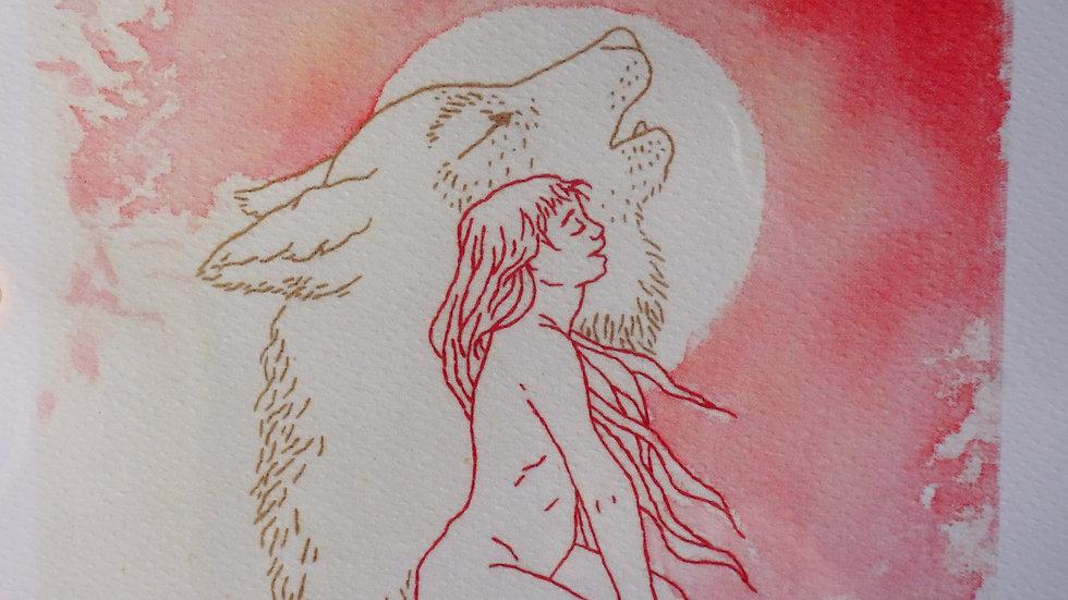 Linogravure Ma Louve