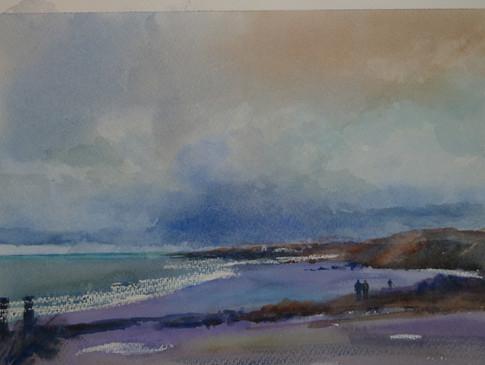 Wimereux Beach near Boulogne -  David Aspinall