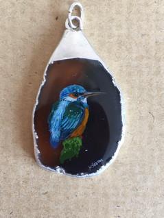 Kingfisher pendant -  Wendy Sabine