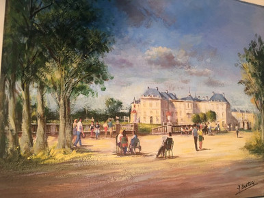 Le Senat in the Luxembourg Garden -  Giuseppe Bertoli