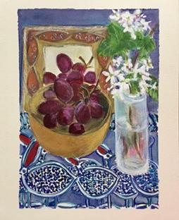 Reflected grapes