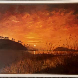Sunset over Lough Sheelin