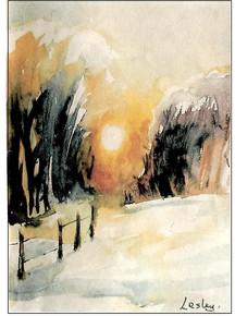 Woods in Snow -  Lesley Feakes
