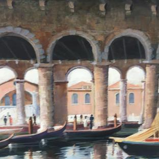 Entering the fish market - Venice