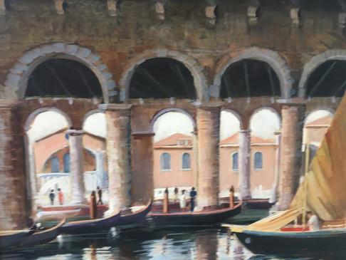Entering the fish market - Venice -  Giuseppe Bertoli