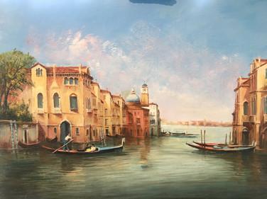 Going to the Gran Canal - Venice -  Giuseppe Bertoli